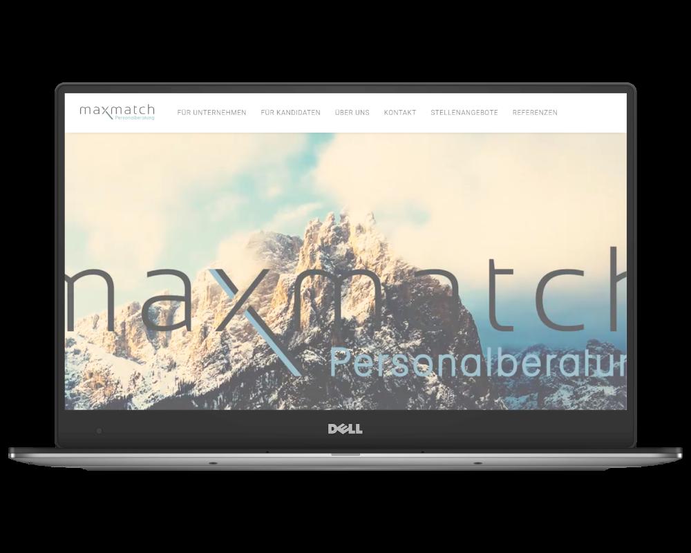Mockup Homepage maxmatch.de